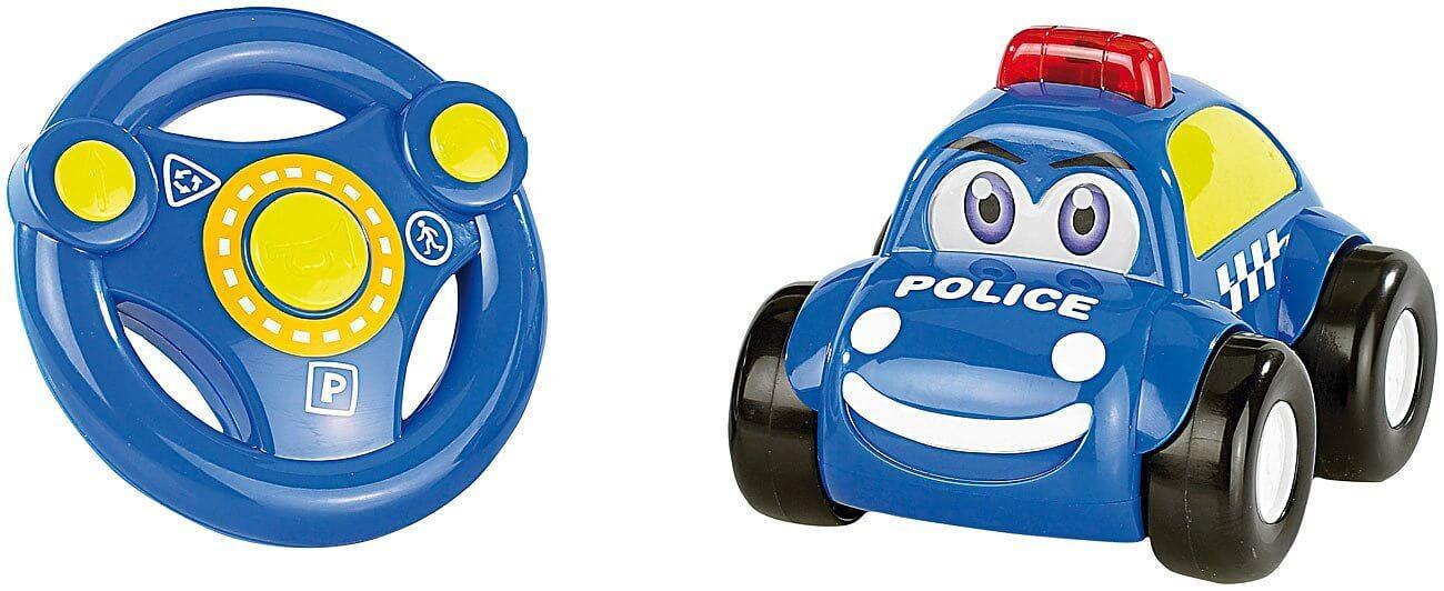 Polizeiauto mit echter Sirene