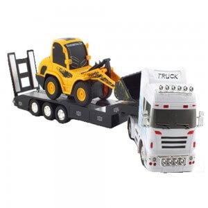 Set-ferngesteuerter-Truck-und-Bagger