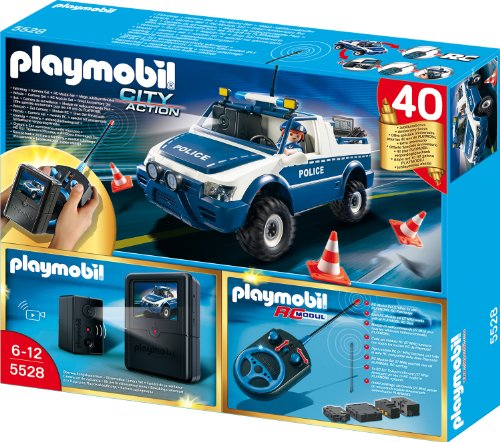 Playmobil Polizeiauto mit Kamera-Set