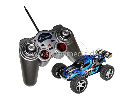 Amewi Mini Truggy Running Dog Turbo in blau